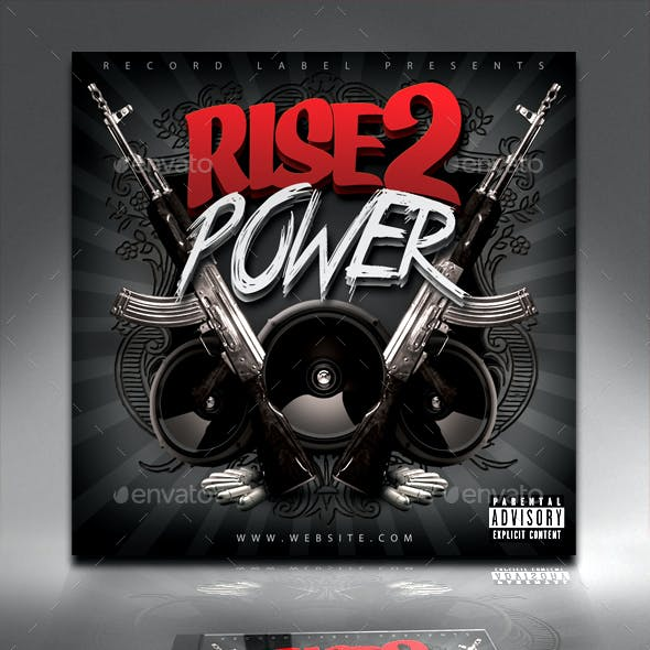 Rise 2 Power Mixtape / CD Cover Template