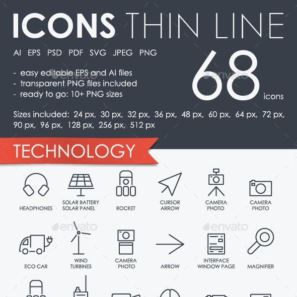 Navigation thinline icons