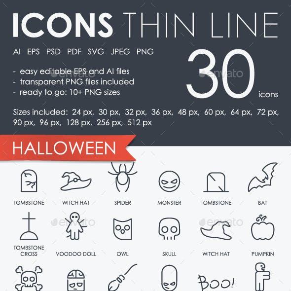 Halloween thinline icons
