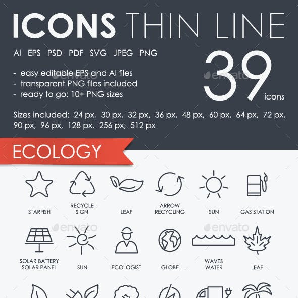 Ecology Thinline Icons