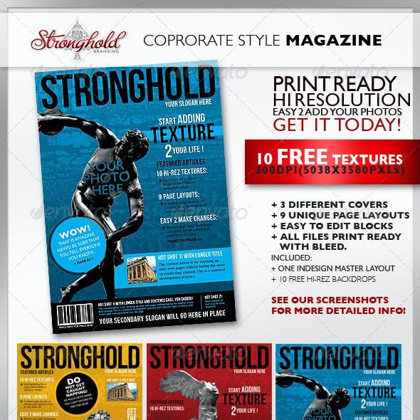 Textured Corporate Magazine Template