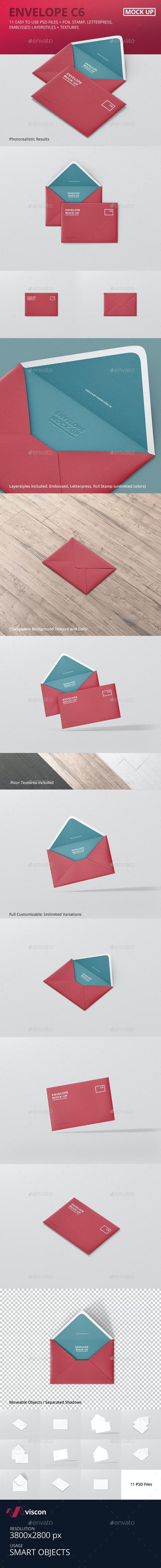 Envelope C6 Mock-Up - Stationery Print