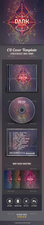 Dark Techno CD Cover Artwork - CD & DVD Artwork Print Templates