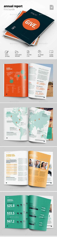 Nonprofit Annual Report Template - Corporate Brochures