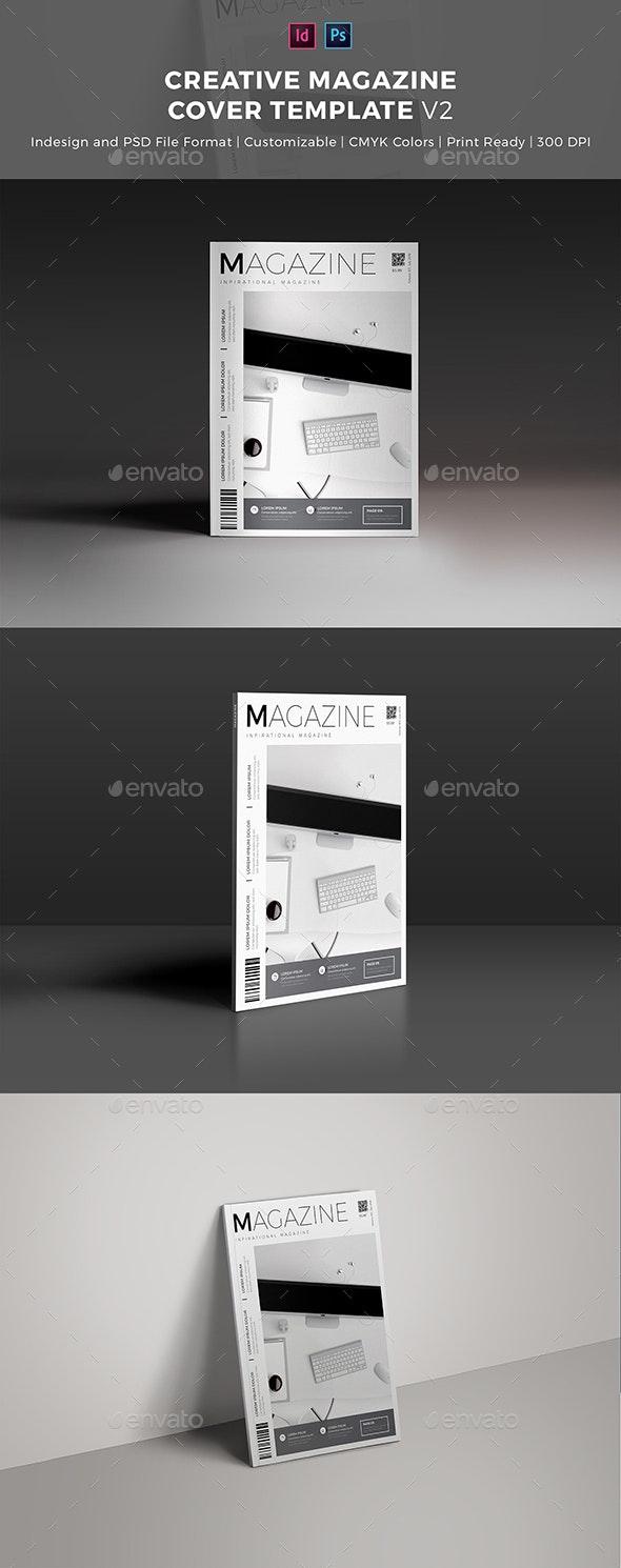 Creative Magazine Cover Template - Magazines Print Templates
