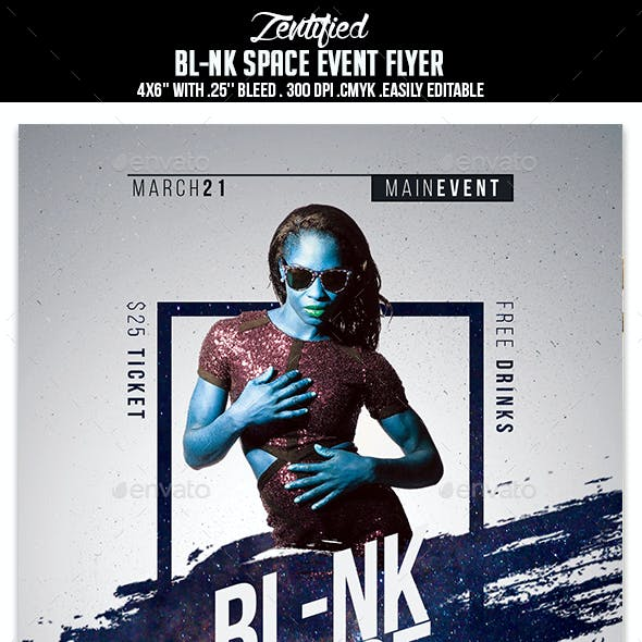 Blank Space Event Flyer
