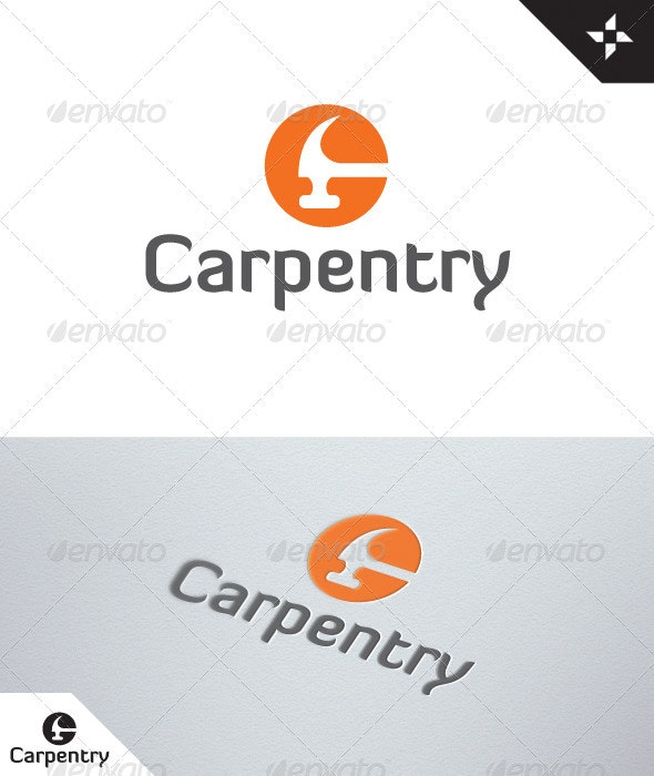 Letter C - Carpentry logo - Vector Abstract