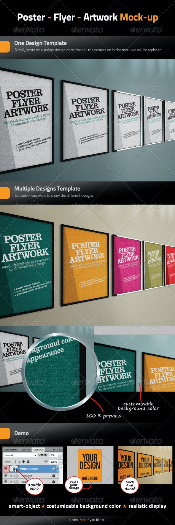 Poster - Flyer - Artwork Mock-Up - Posters Print