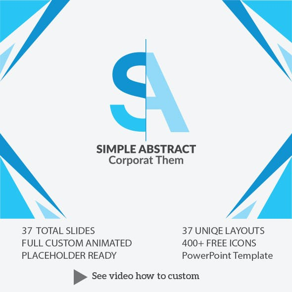 Simple Abstract Power Point Presentation Template