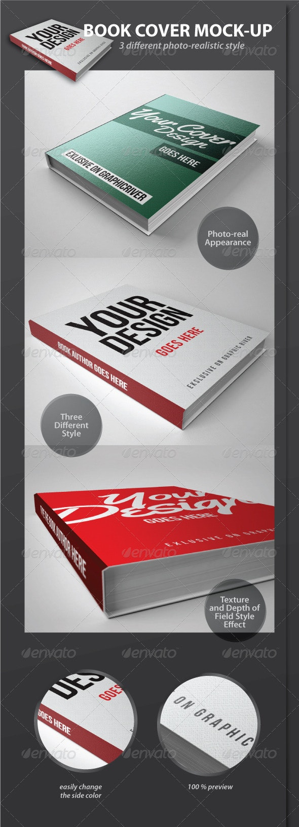 Book Cover Mock-Up Pack - Books Print