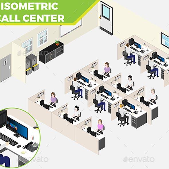 Isometric Call Center