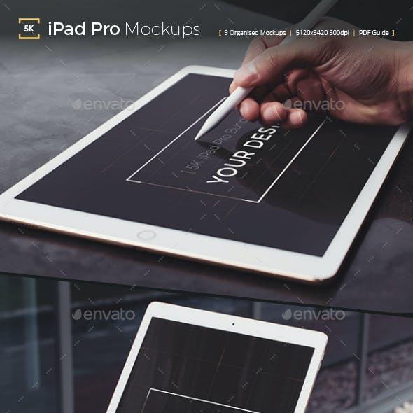 Pad Pro 5K Photorealistic Tablet Mockup