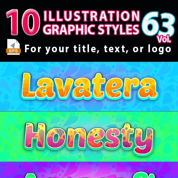 10 Illustrator Graphic Styles Vol.63