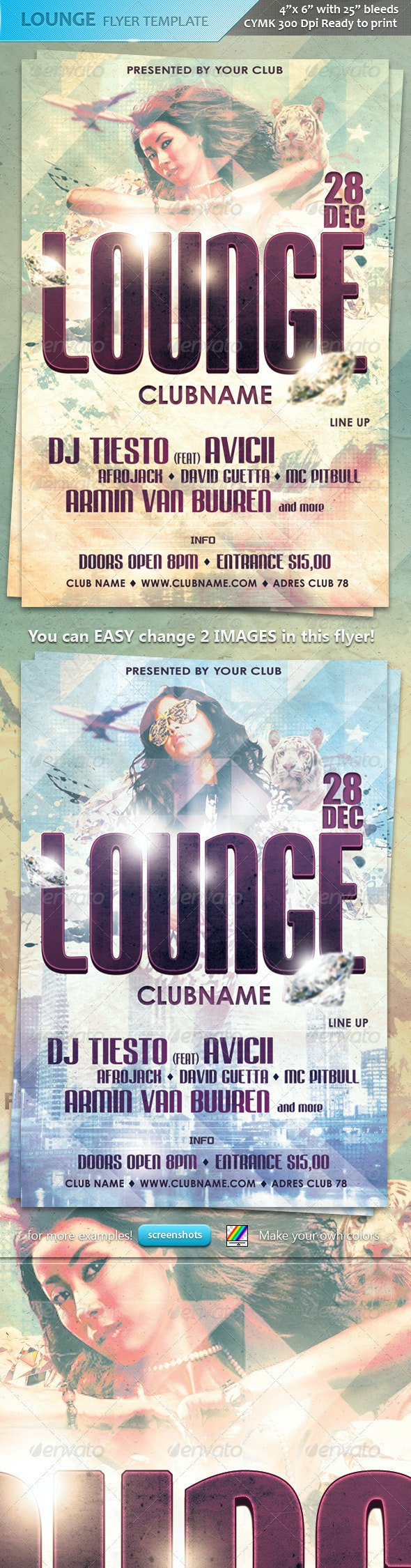 New Lounge Flyer Template - Clubs & Parties Events