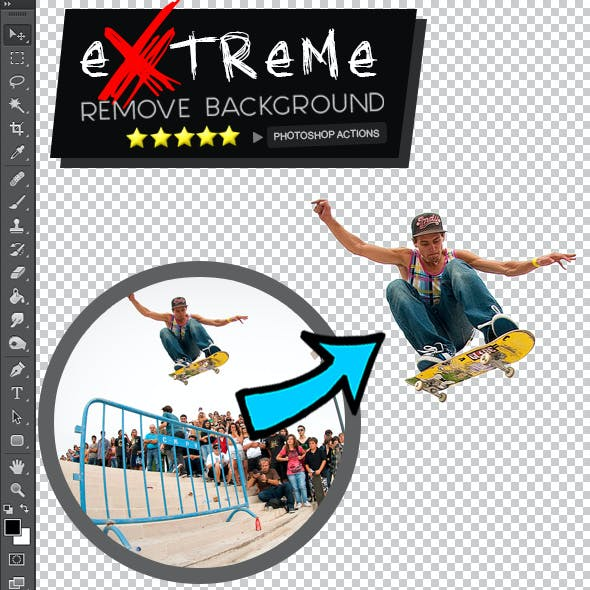 Extreme Remove Background Photoshop Actions