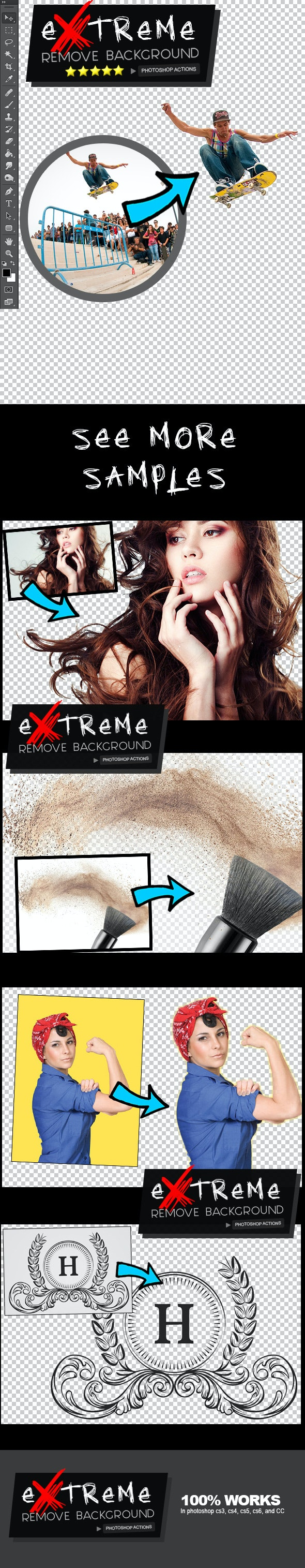 Extreme Remove Background Photoshop Actions - Photo Effects Actions