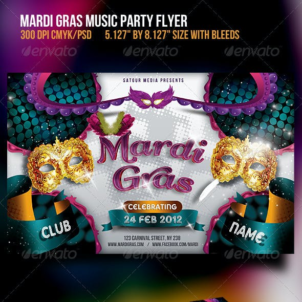 Mardia Gras Party Flyer