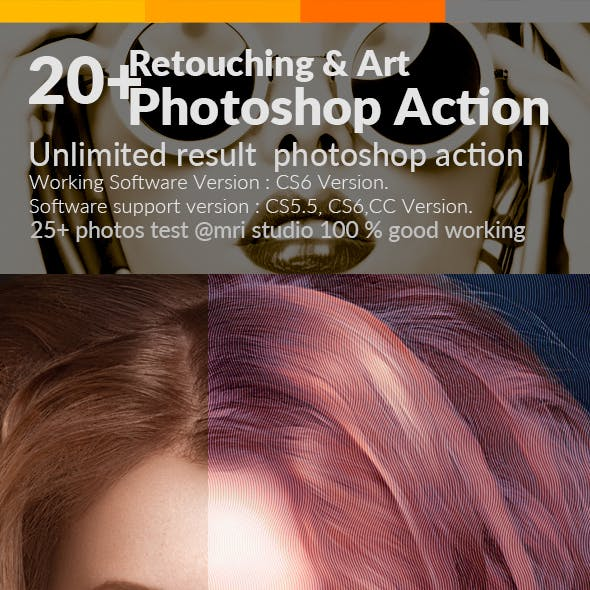 Retouching & Art Photoshop Action