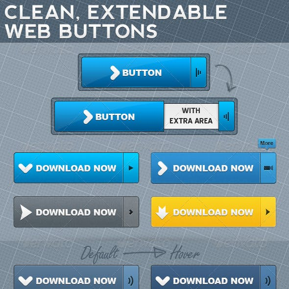 Extendable Web Buttons