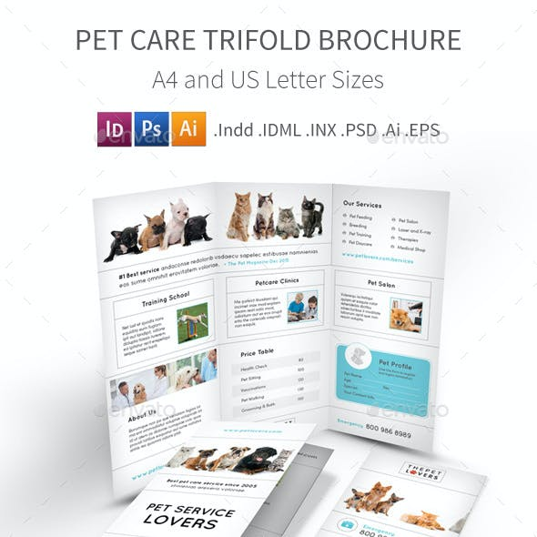 Pet Care Trifold Brochure 4