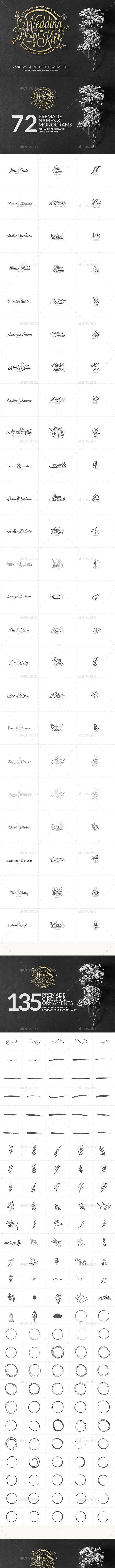 Wedding Design Logo Kit - Badges & Stickers Web Elements