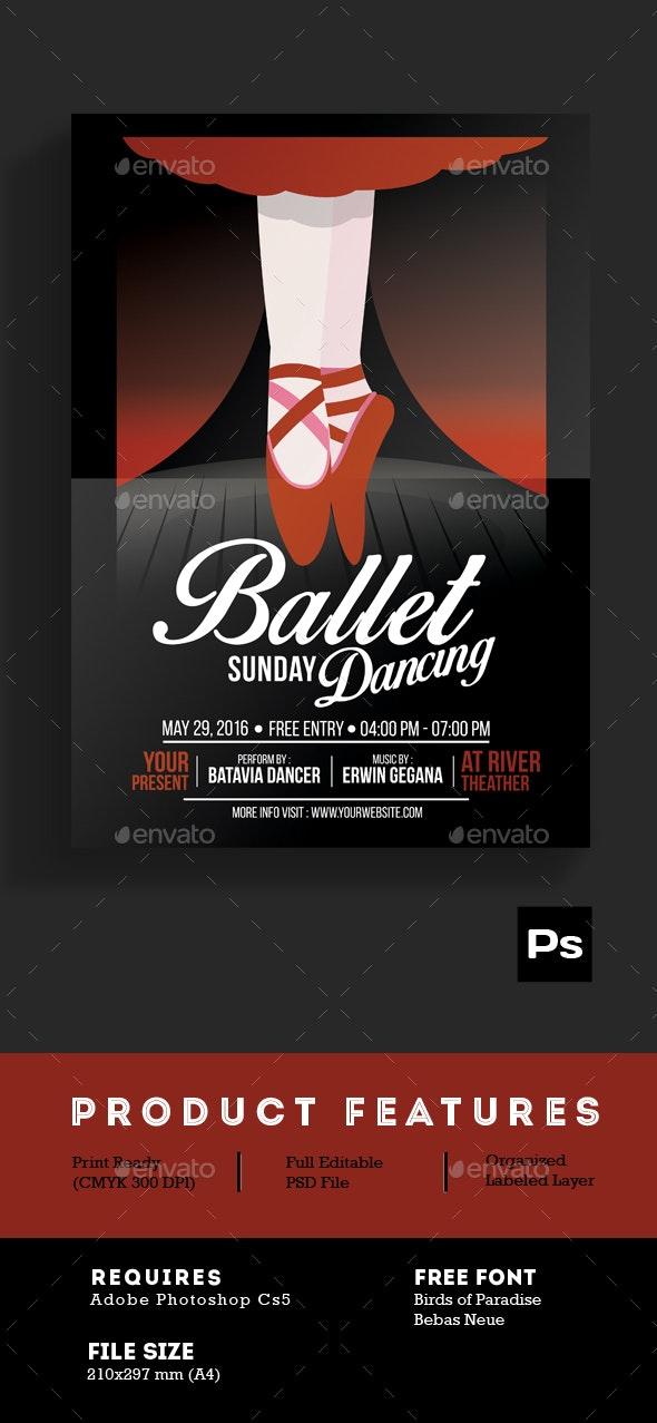 Ballet Dance Event Flyer - Events Flyers