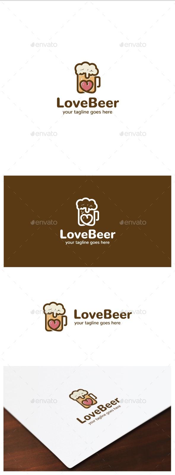 Love Beer Logo - Food Logo Templates
