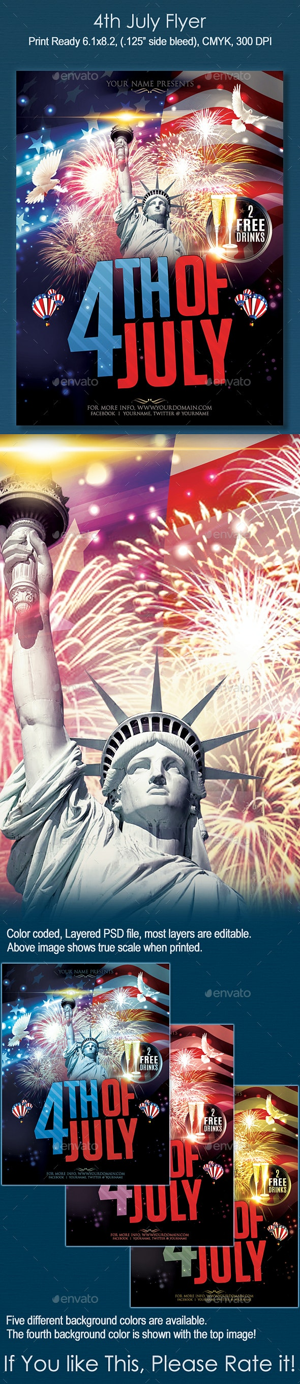 4th of July Flyer - Holidays Events