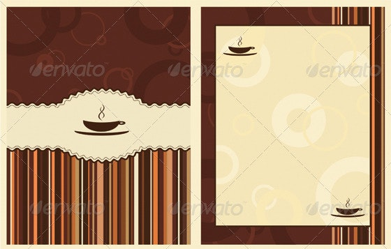 Coffee menu design - Backgrounds Decorative