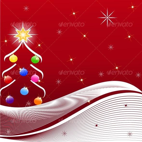 vector illustration of Christmas Tree - Christmas Seasons/Holidays