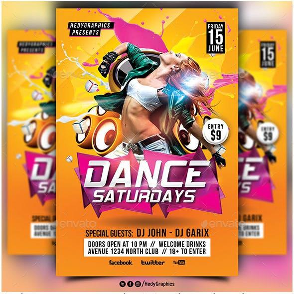 Dance Saturdays Flyer Template