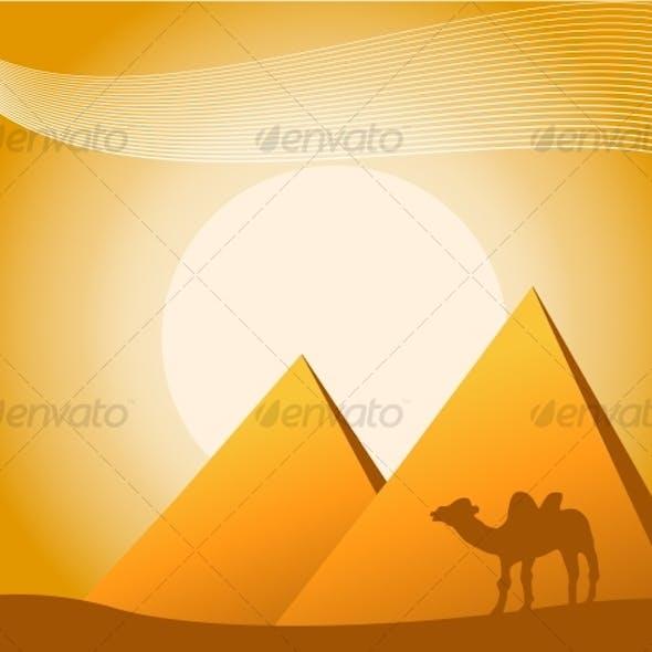 illustration of pyramids