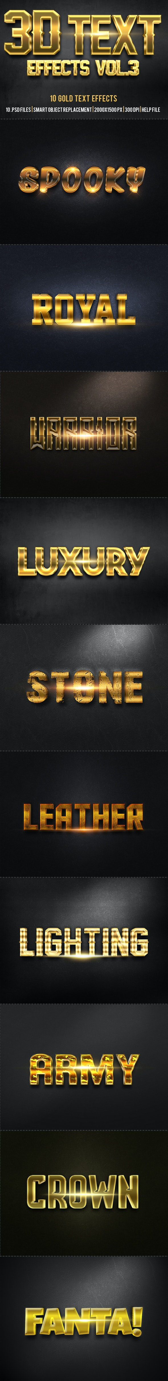 3D Text Effects   - Text Effects Styles
