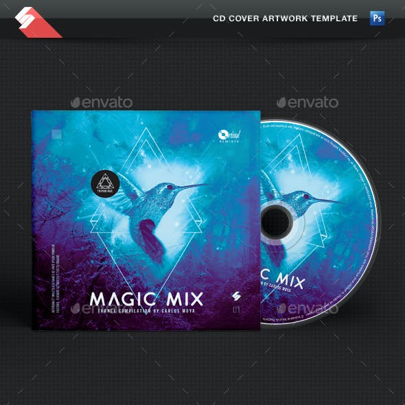 Trance Magic Mix - CD Cover Template
