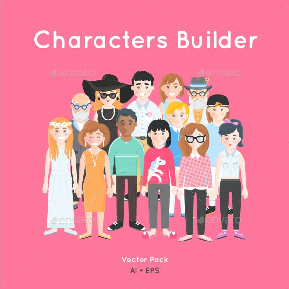 Characters Builder - Vector Pack