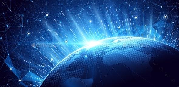 Global Network Background