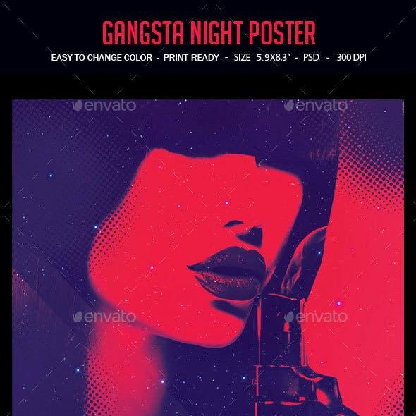 Gangsta Night Poster