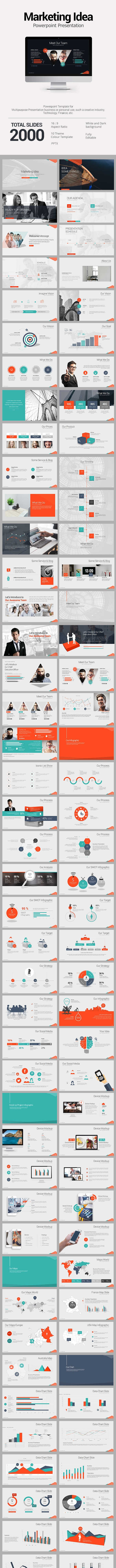 Marketing Idea PowerPoint Template  - PowerPoint Templates Presentation Templates