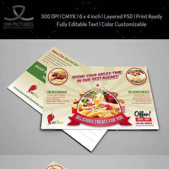 Restaurant Postcard Template
