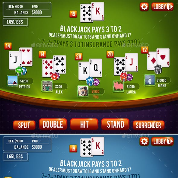 Blackjack Card Game Set