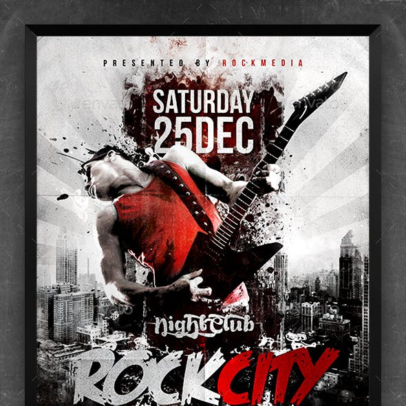 Rock City Concert Flyer / Poster