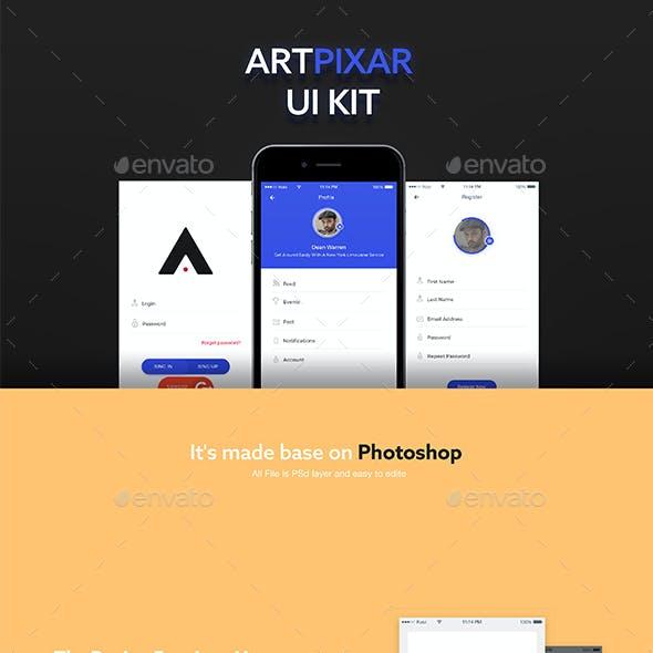 Artpixar UI E-commerce App