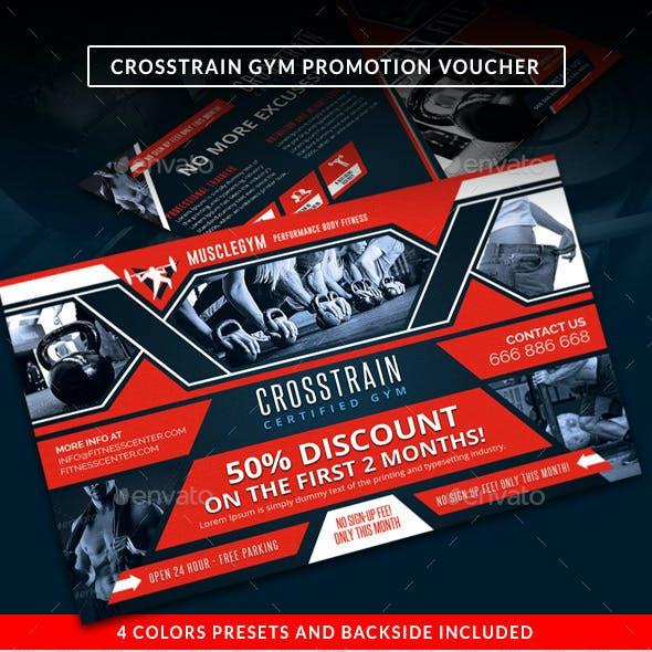 Cross Training Gym Promotion Discount Voucher