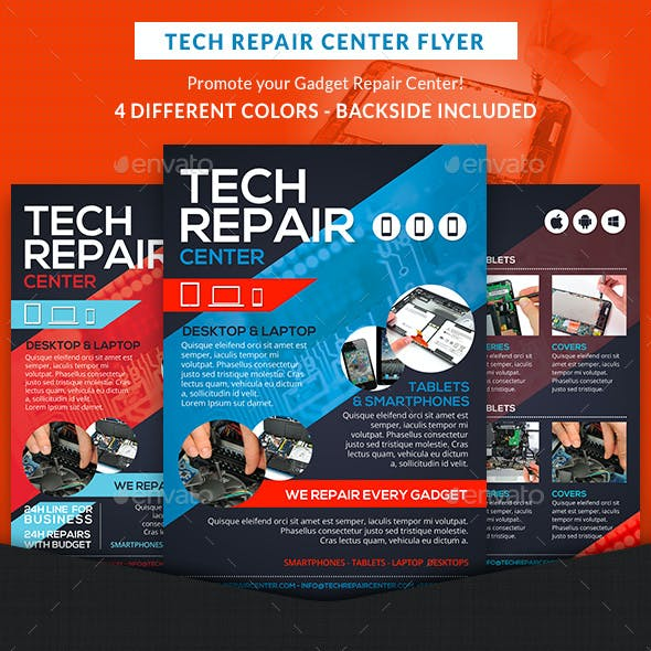 Tech Repair Center Flyer