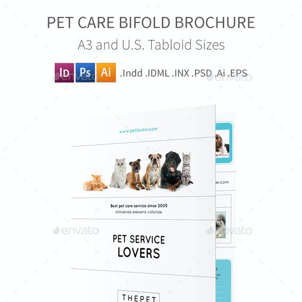 Pet Care Bifold / Halffold Brochure 4