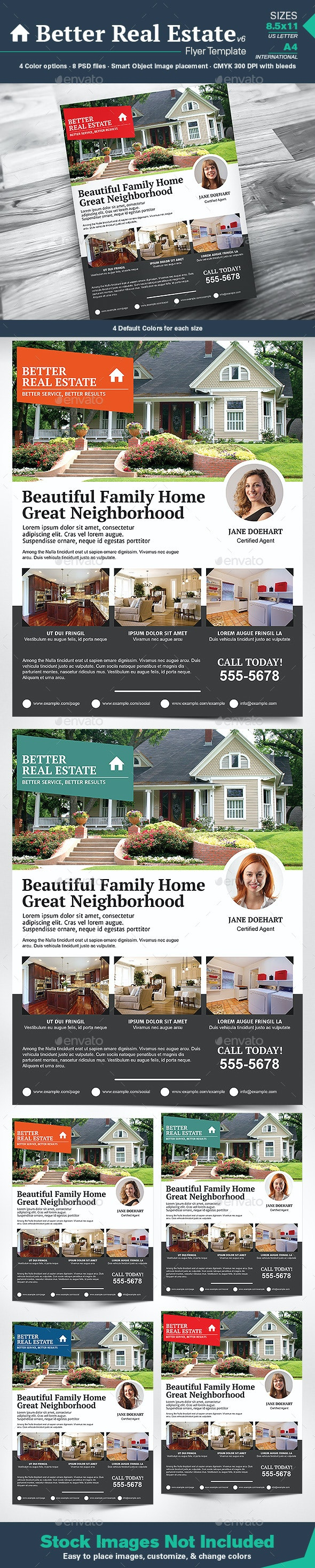 Better Real Estate Flyer Template v6 - Corporate Flyers