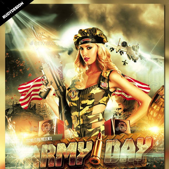 Armed Forces Day Flyer Invitation