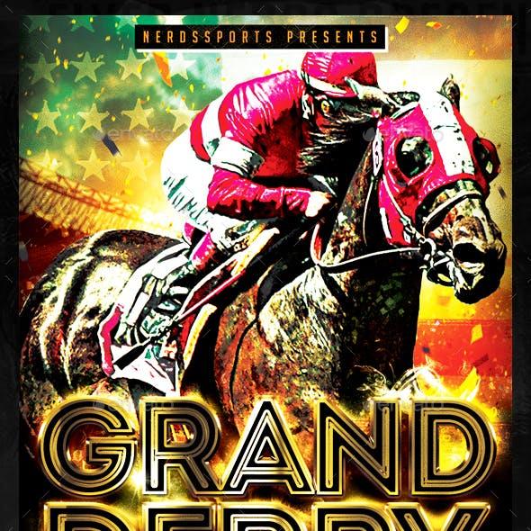 Grand Derby Horse Race Sports Flyer
