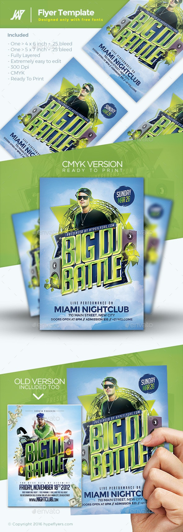 Dj Battle Flyer - Clubs & Parties Events