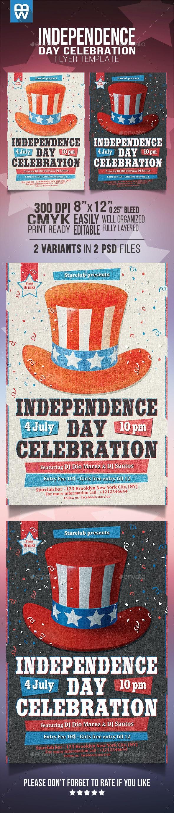 Independence Day Celebration Flyer - Events Flyers